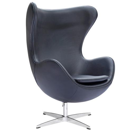 Inner Egg Chair Leather, Black