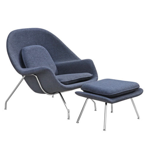 Womb Chair and Ottoman, Black