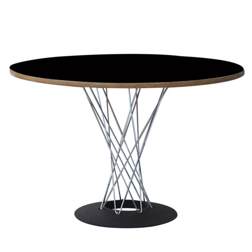 """DSW Wire Dining Table 42"""", Black"""