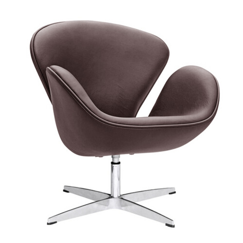 Swan Chair Leather, Dark Brown