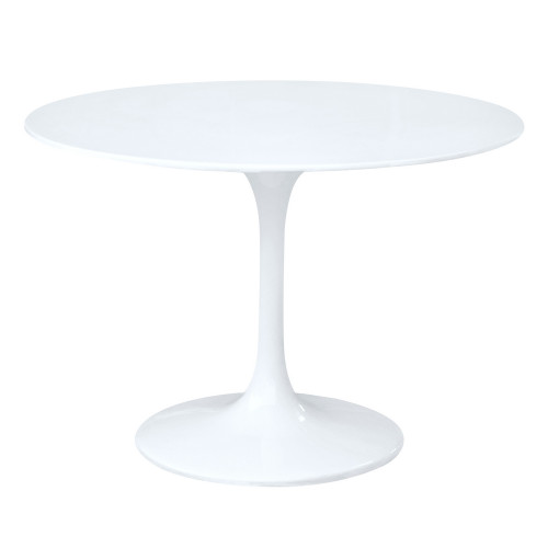 "Fine Mod Imports Flower Table 48"", White"