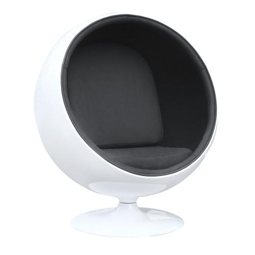 Fine Mod Imports Ball Chair, Black