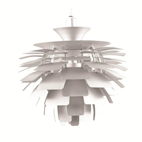 Fine Mod Imports Artichoke Leaf Lamp, Silver