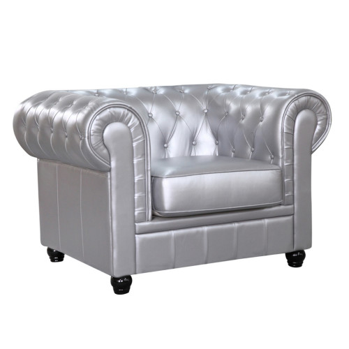 Fine Mod Imports Chestfield Chair, Silver