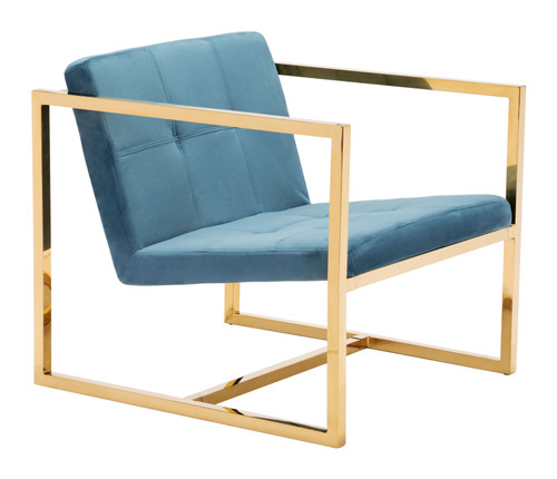 Alt Arm Chair Blue & Gold