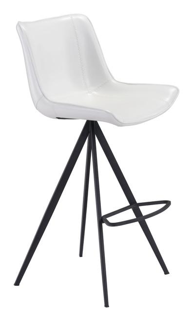 Aki Bar Chair (Set of 2) White & Black