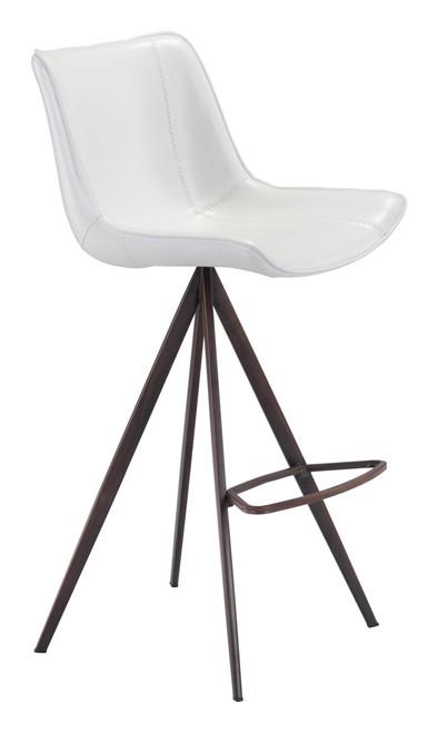 Aki Bar Chair (Set of 2) White & Walnut