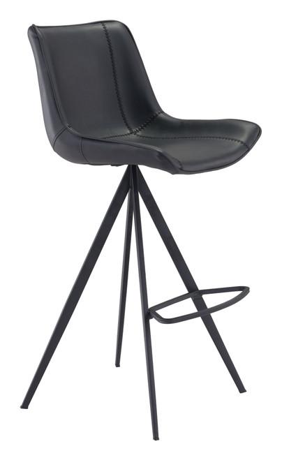 Aki Bar Chair (Set of 2) Black