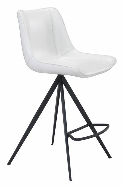 Aki Counter Chair (Set of 2) White & Black