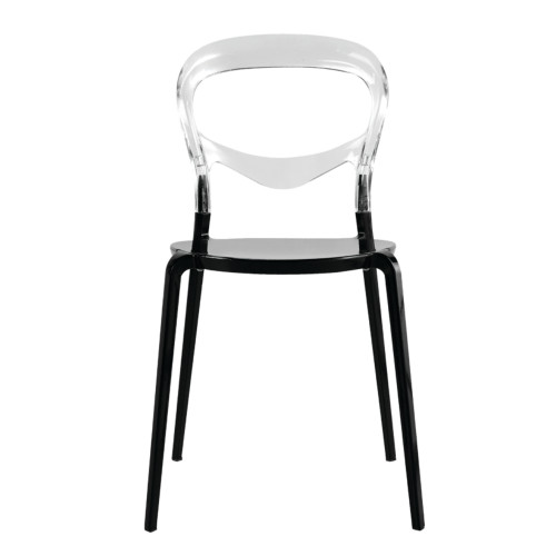 Fine Mod Imports Evo Acrylic Dining Side Chair, Transparent