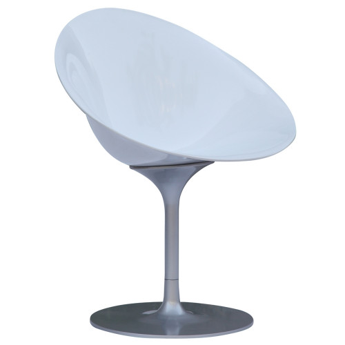 Fine Mod Imports Eco Flatbase Dining Chair, White
