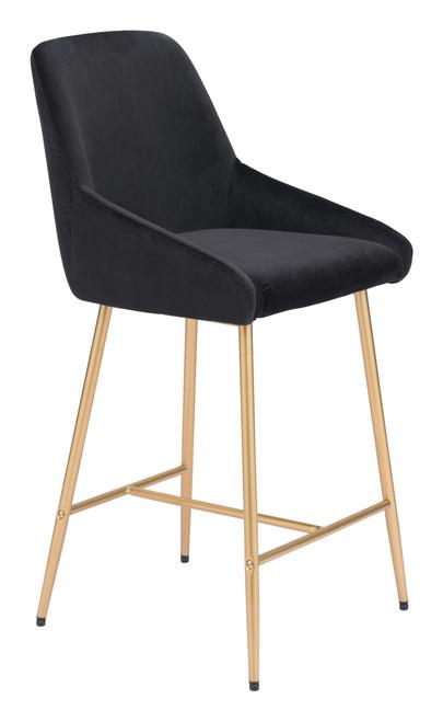 Mira Counter Chair Black & Gold
