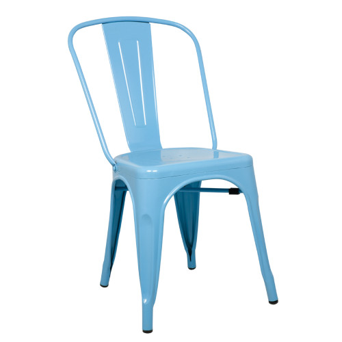 Tolix Chair, Blue Set of 2