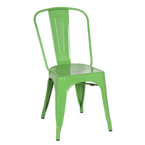 Tolix Chair, Green Set of 2