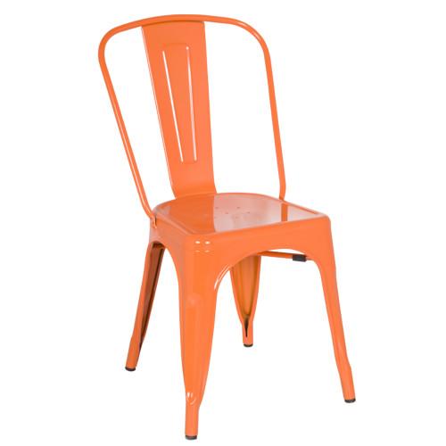 Tolix Chair, Orange Set of 2