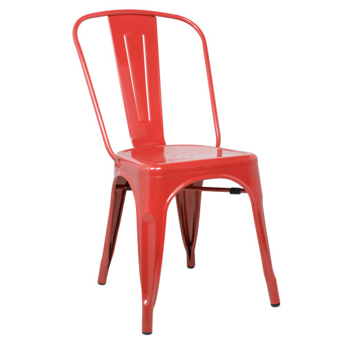 Tolix Chair, Red Set of 2