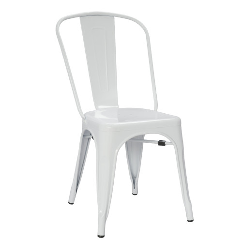 Tolix Chair, White Set of 2