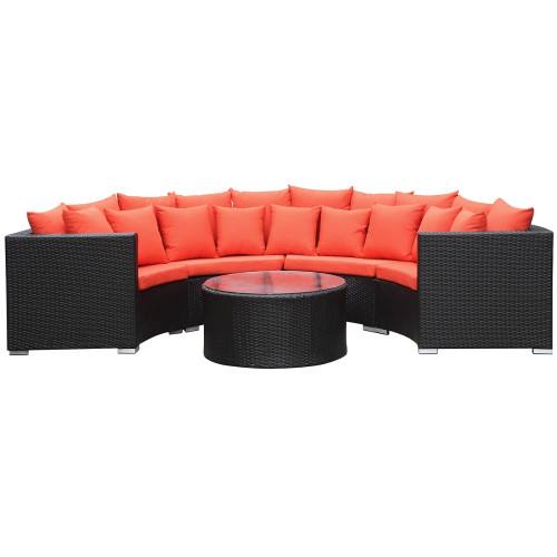Roundano Outdoor Sofa Orange Cushions