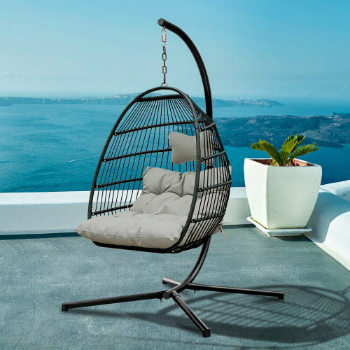 Forrest Outdoor Hanging Swing Chair With Stand