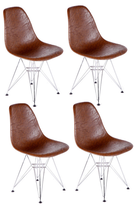 Vincent DSW Dining Chair, Leatherette Set of 4