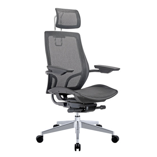 Humanspine Office Chair in Black Mesh Seat and Back Brand NEW