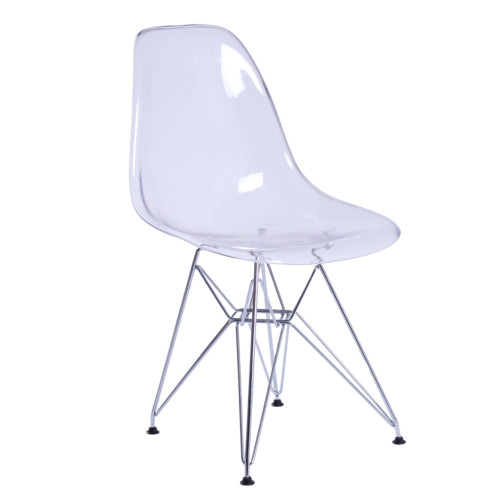DSW Dining Side Chair, Clear Set of 2