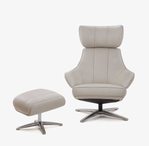 Ivy Swivel Reclining Chair with Ottoman By Tempus