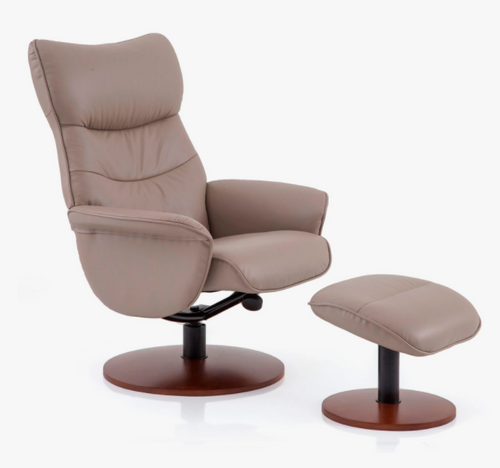 Lavalle Swivel Reclining Chair with Ottoman By Tempus