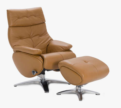 Mely Swivel Reclining Chair with Ottoman By Tempus