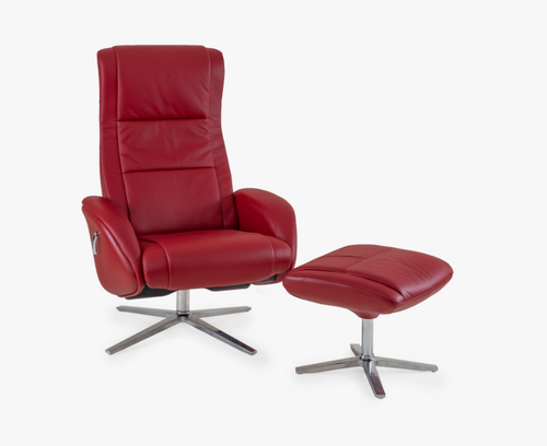 Kira Swivel Reclining Chair with Ottoman By Tempus