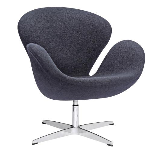 Swan Chair Fabric, Black