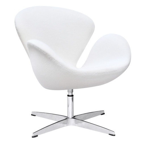 Swan Chair Fabric, White