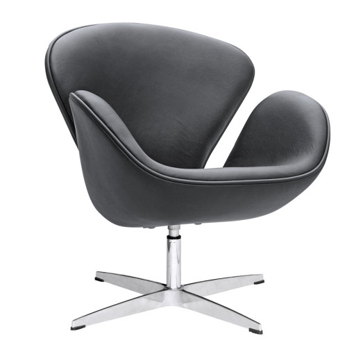 Swan Chair Leather, Black