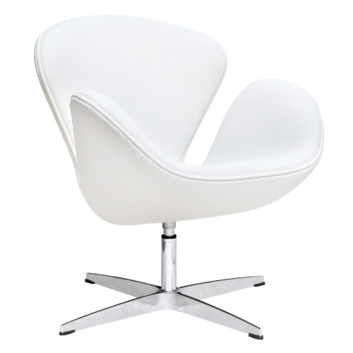 Swan Chair Leather, White