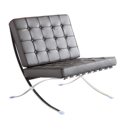 Fine Mod Imports Pavilion Chair in Leather, Black