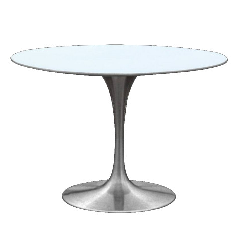 """Tulip Dining Table 60"""" Silver Base"""
