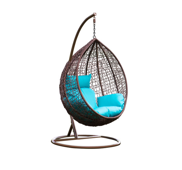 Fine Mod Imports Grand Outdoor Hanging Swing Chair With Stand