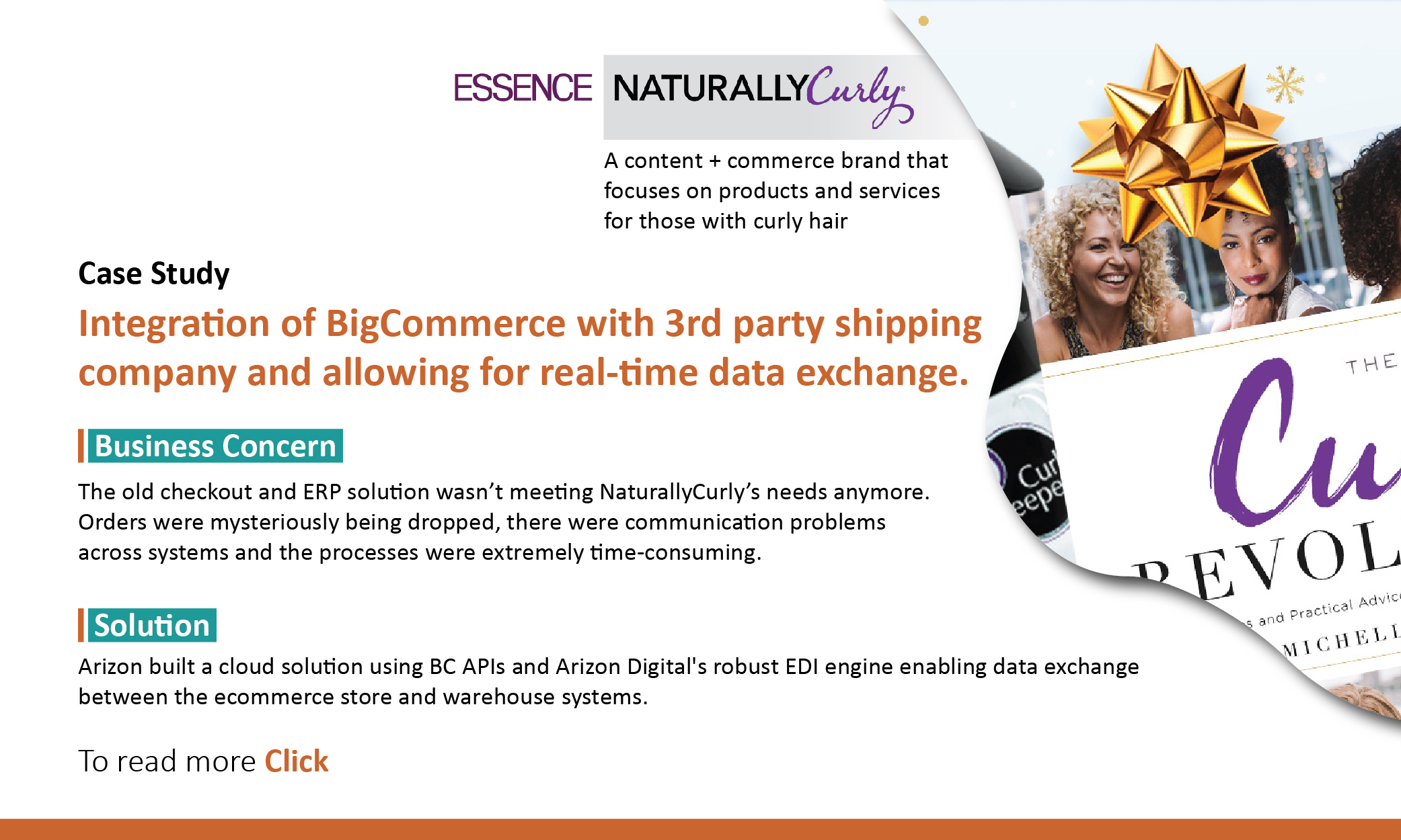 Integration of Bigcommerce with 3rd party shipping company and allowing for real-time data exchange.