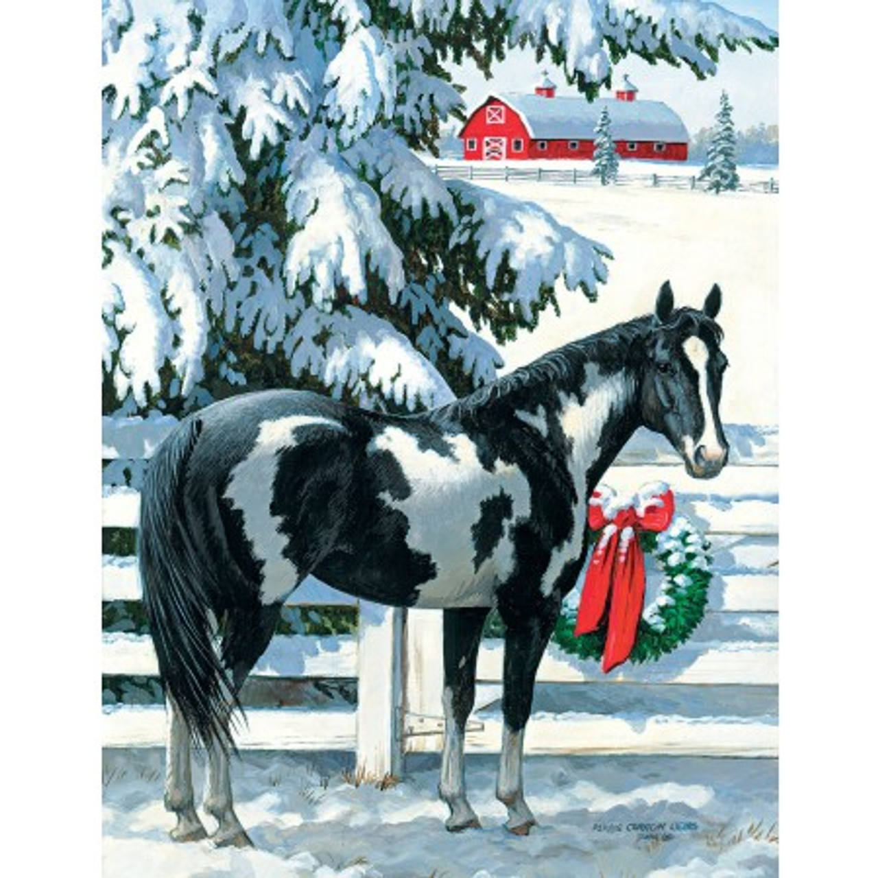 Christmas Horse.Holiday Horses And Stables Boxed Christmas Cards