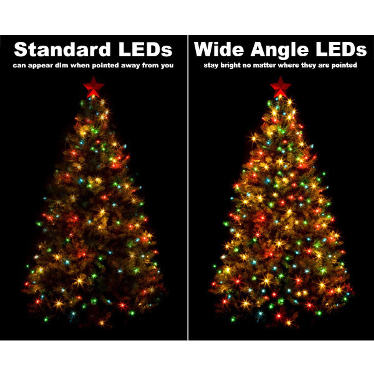25 Ft Cool White String Lights Led 5mm Wide Angle 50 Leds