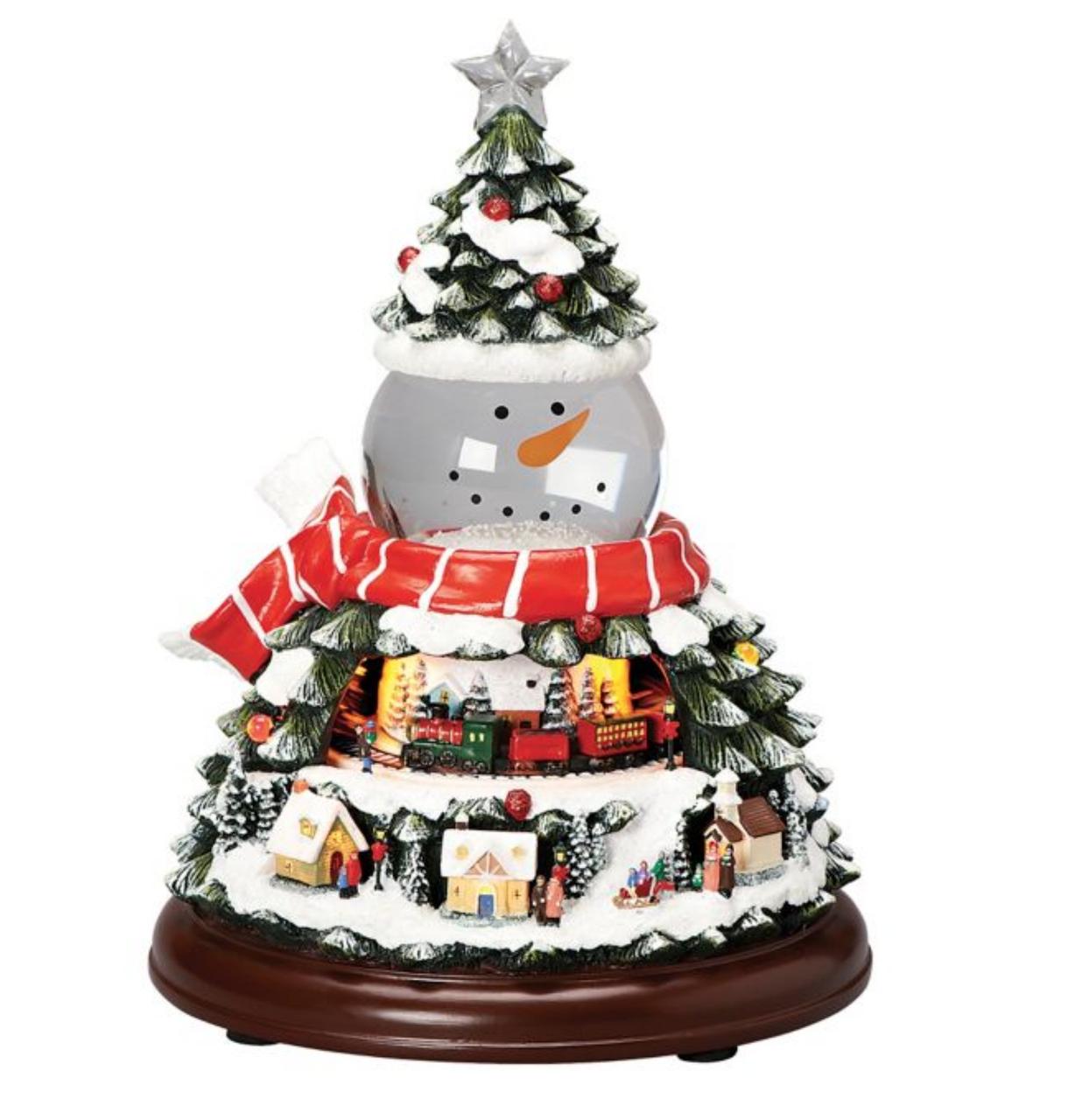 Roman - LED Snowman Head Swirl Dome - 131242
