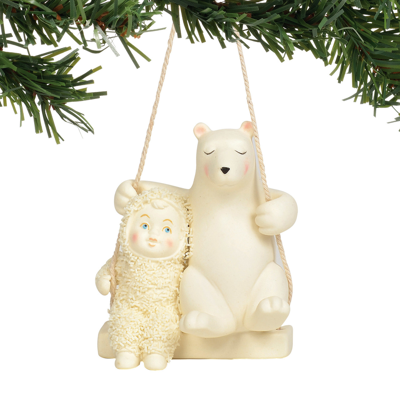 The Christmas Loft.Snowbabies Swing The Day Away Ornament