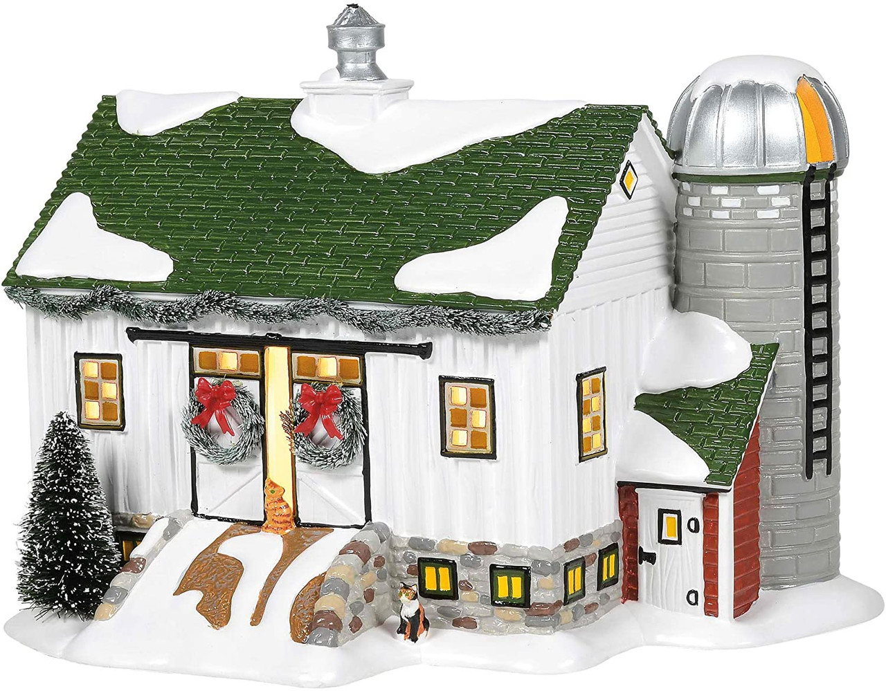 7.48 in H Department 56 Hot Properties Country Living Village Crooked Creek Farm Lighted Building
