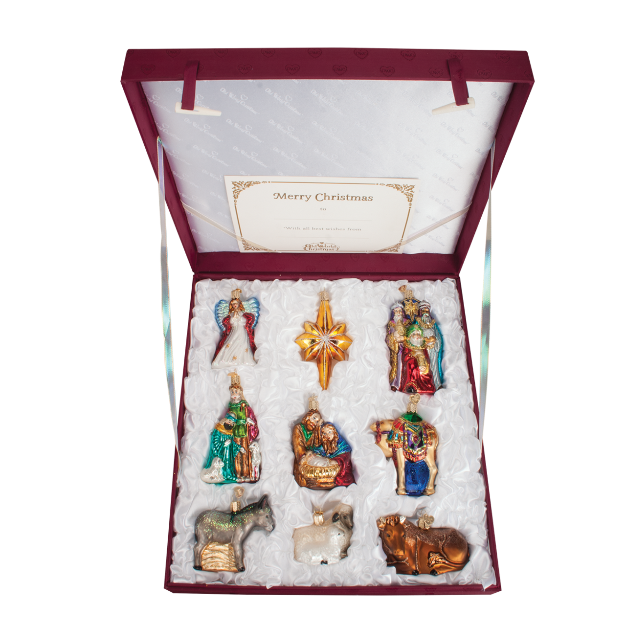 Old World Christmas Glass - 9 Pc. Ornament Nativity Boxed Set - The ...