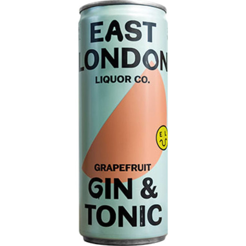 East London Grapefruit Gin & Tonic Cans Pack of 12
