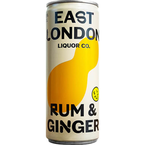 East London Rum & Ginger Cans Pack of 12