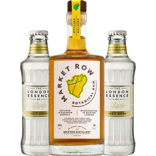 Market Row Botanical Rum + 2 FREE Tonics