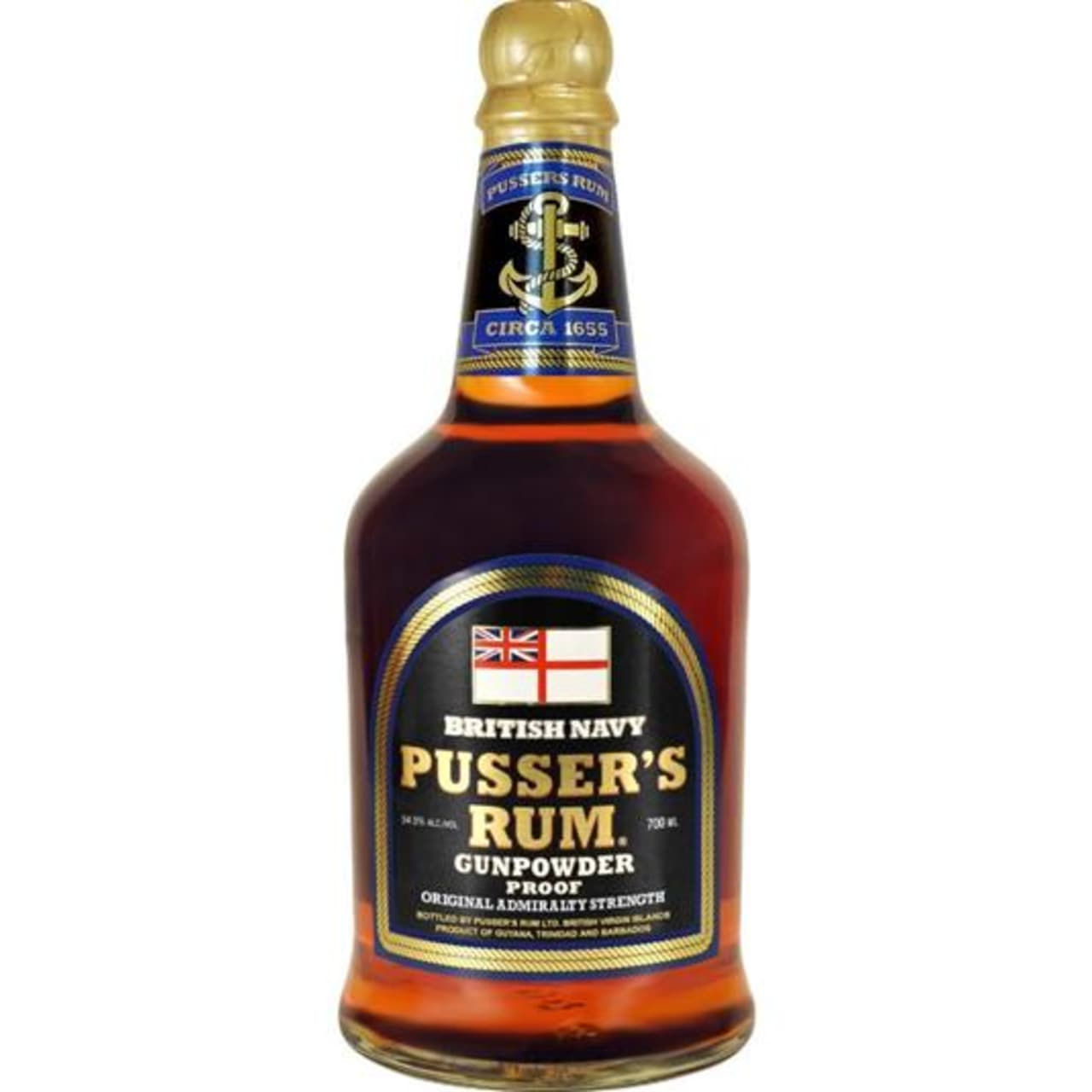 Product Image - Pusser's Rum Gunpowder Proof Rum