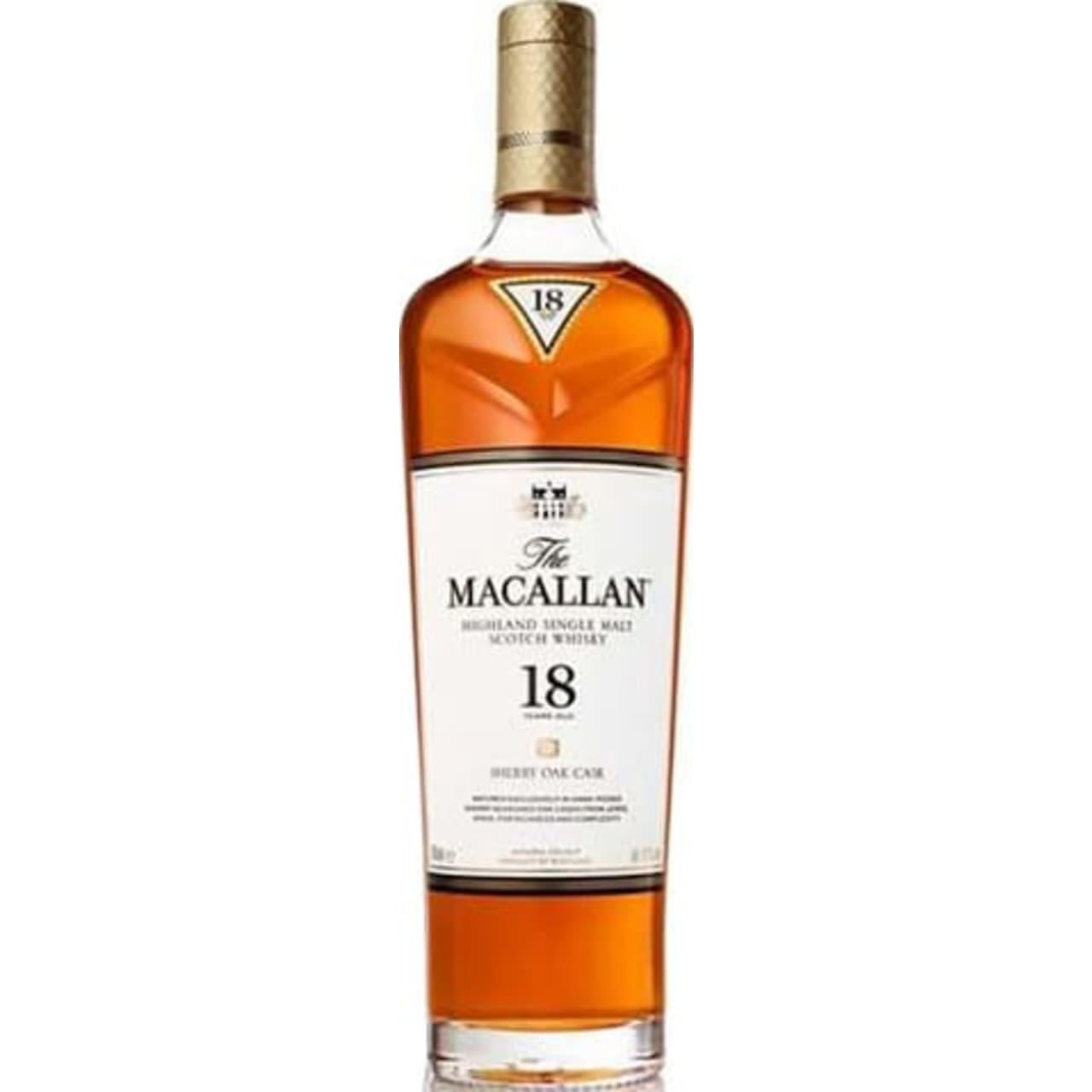 Product Image - The Macallan 18yo Sherry Oak Single Malt