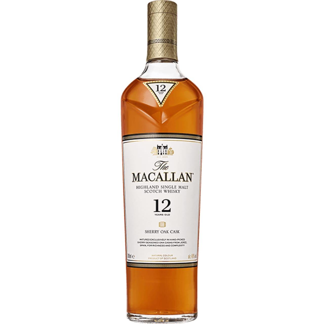 Product Image - The Macallan 12yo Sherry Oak Single Malt
